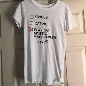 Mystic Messenger T Shirt, Medium